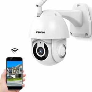 Cámara de vigilancia exterior de 1080P HD con visión nocturna e impermeable