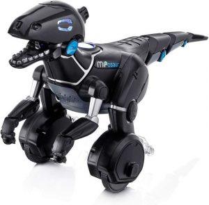 Dinosaurio robot con ruedas
