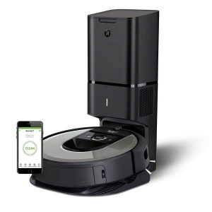 Robot Roomba con plataforma de carga